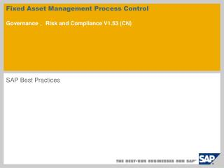 Fixed Asset Management Process Control  Governance, Risk and Compliance V1.53 CN