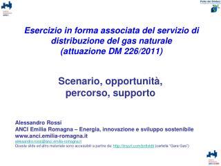 Scenario, opportunità,  percorso, supporto