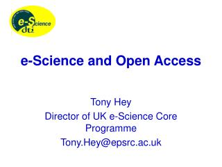 e-Science and Open Access