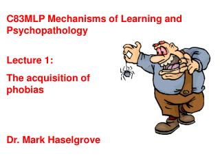 Lecture 1: The acquisition of phobias
