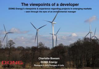 Charlotte Boesen DONG Energy Romania 6 July/Hungary 8 July