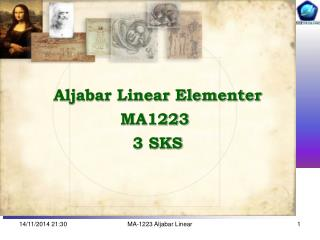 Aljabar Linear Elementer MA1223  3 SKS