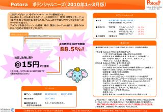 Potora    ポテンシャルニーズ( 2010 年 1~3 月版)