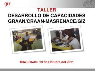 TALLER  DESARROLLO DE CAPACIDADES GRAAN/CRAAN-MASRENACE/GIZ