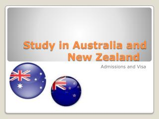 Study in Australia and New Zealand