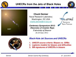 UHECRs from the Jets of Black Holes