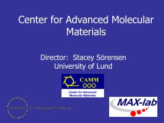 Center for Advanced Molecular Materials