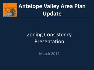 Zoning Consistency Presentation
