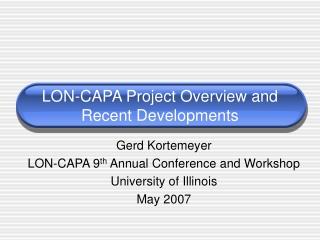 LON-CAPA overview
