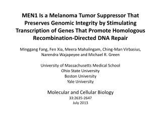 Multiple Endocrine  Neoplasia  type 1 (MEN1) Syndrome