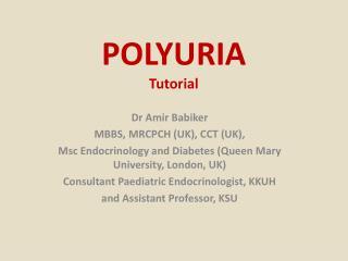 POLYURIA Tutorial