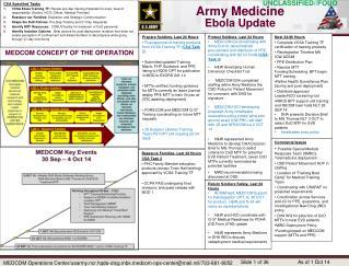 Army Medicine Ebola Update