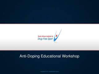 Anti-Doping Educational Workshop