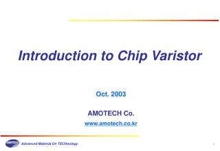 Introduction to Chip Varistor