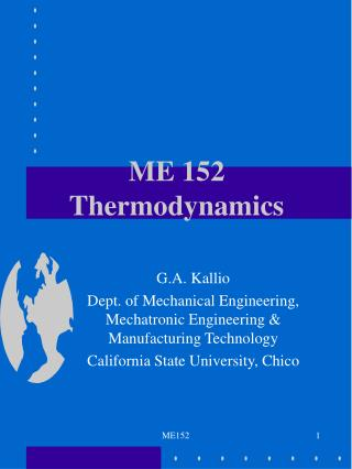 ME 152 Thermodynamics