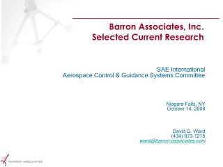 Barron Associates, Inc. Selected Current Research