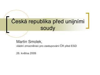 Česká republika před unijními soudy