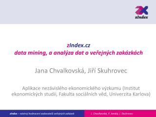 z Index.cz data mining, a analýza dat o veřejných zakázkách