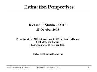 Estimation Perspectives