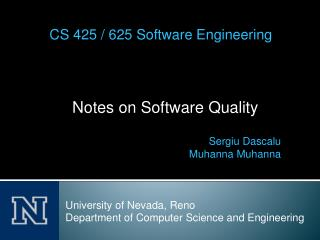 Notes on Software Quality