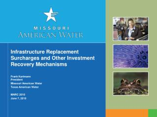 Infrastructure Replacement Surcharges and Other Investment Recovery Mechanisms
