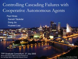 Controlling Cascading Failures with Cooperative Autonomous Agents
