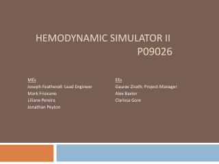 HEMODYNAMIC SIMULATOR II                                          P09026
