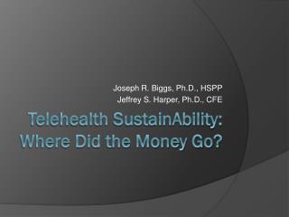 Telehealth SustainAbility: Where Did the Money Go?