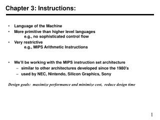 Chapter 3: Instructions: