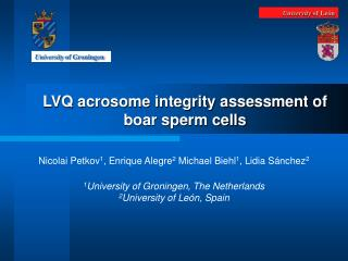 LVQ acrosome integrity assessment of boar sperm cells