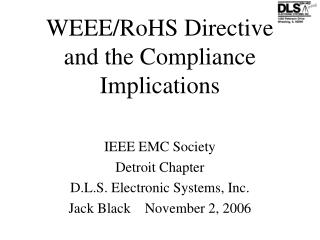 WEEE/RoHS Directive and the Compliance Implications