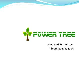 Prepared for: ERCOT September 8, 2009