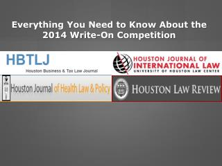 Everything You Need to Know About the 2014 Write-On Competition