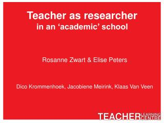 Teacher as researcher in an 'academic' school