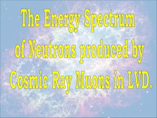 The Energy Spectrum  of Neutrons produced by  Cosmic Ray Muons in LVD.