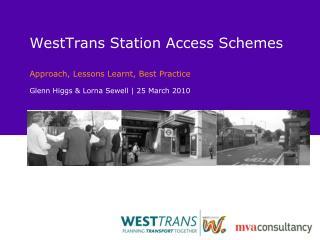 WestTrans Station Access Schemes