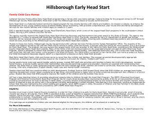 Hillsborough Early Head Start