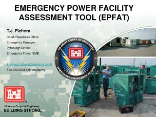EMERGENCY POWER FACILITY ASSESSMENT TOOL (EPFAT)