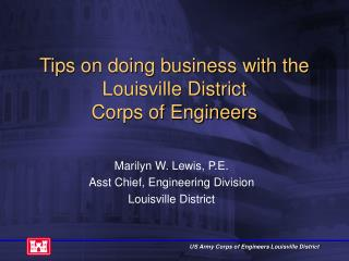 Tips on doing business with the Louisville District  Corps of Engineers