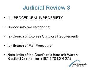 Judicial Review 3