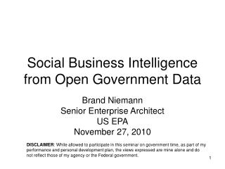Social Business Intelligence from Open Government Data