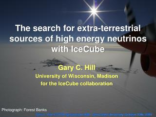 The search for extra-terrestrial sources of high energy neutrinos with IceCube