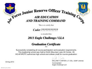 Air Force Junior Reserve Officer Training Corps