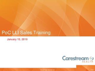 PoC LLI Sales Training