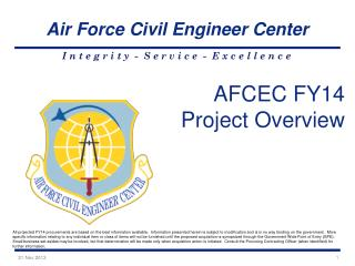 AFCEC FY14 Project Overview