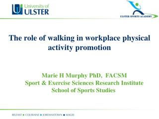 The role of walking in workplace physical activity promotion