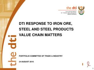 The iron ore, steel and steel products value chain