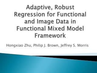 Adaptive, Robust Regression for Functional and Image Data in Functional Mixed Model Framework