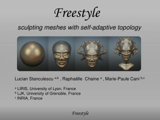 sculpting meshes with self-adaptive topology