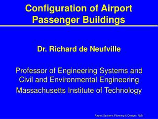Configuration of Airport Passenger Buildings